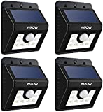 LED Solar Motion Sensor Lights, Mpow® 3-in-1 Waterproof Solar Energy Powered Security Light Outdoor Bright Light Lamp with 3 Intelligient Modes 8 Bright Nodes for Garden, Outdoor, Fence, Patio, Deck, Yard, Home, Driveway, Garage, Stairs, Outside Wall etc(4 Units)