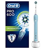 Image of Oral-B Pro 600 CrossAction Electric Toothbrush Rechargeable Powered by Braun (UK 2-Pin Bathroom Plug)