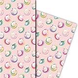 Zauberhaftes Geschenkpapier mit magischem Einhorn für tolle Geschenk Verpackung und Überraschungen (4 Bogen, 32 x 48cm), auf rosa