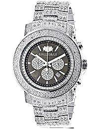 b05c5dd1572 Iced Out Mens Diamond Watch Luxurman 2ct Escalade Oversized w Chronograph  B00O2G3XM0