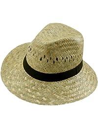 EveryHead Fiebig Señoras Sombrero De Paja Verano Playa Vacaciones Equinácea Gorro  Fiesta Unisex Con Banda Acanalada aee1bc7d1fb