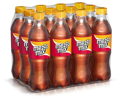 Mezzo Mix, Einzigartiges Mischgetränk aus Cola & Orange in praktischen Flaschen, EINWEG Flasche (12 x 500 ml) -