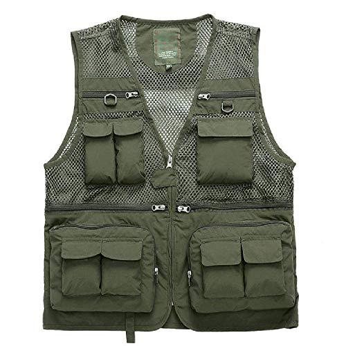 Outdoor Sommer Tactical Fishing Vest Jacken Männer Safari Jacke Multi Pockets Reisen ärmellose Jacken S-6XL Plus Größe