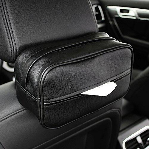 Keep Top: Auto Luxus-Sonnenblende aus Leder, Taschentuchhalter, Überzug für Taschentuchbox, Serviettenklip zum Aufhängen an der Kopfstütze am Rücksitz.