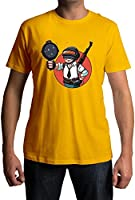 Fully Filmy PUBG Vault Boy Round Neck Cotton Unisex T-Shirt (TEE-445-YEL-MED)
