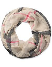 stylebreaker karo muster loop schlauchschal seidig leicht kariert tuch damen 01016110 - Schal Burberry Muster