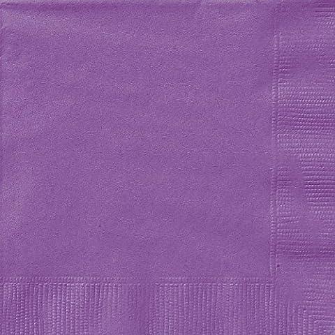 Unique Party - 34471 - Paquet de 20 Serviettes en Papier - 13 cm - Violet