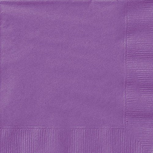 Unique Party 34471 - 13 cm Tovaglioli di Carta Viola, Confezione di 20
