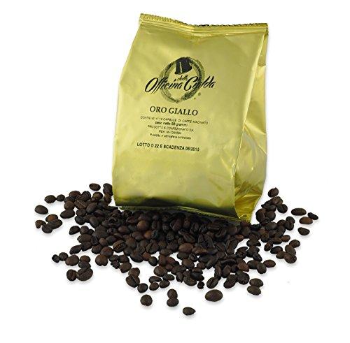 Odc made in italy kit formato da 100 capsule gusto oro giallo intensitÀ 7 compatibili con le macchine da caffè nespresso.