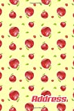 Address.: Address Book. (Vol. C73) Apple Fruit Cover Design. Glossy Cover,Contract Large Print, Font, 6' x 9' For Contacts,...