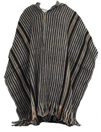 Terrapin Trading Fair Trade Herren Alpaka Wolle Woolen Poncho Cape von Bolivien New 2018 Striped