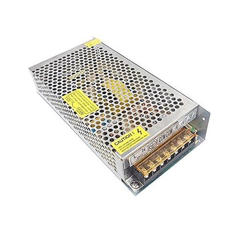 Redrex DC 12V 10A Commutation Adaptateur Transformateur d'alimentation Universal Regulated pour Strip LED Lights CCTV Ordinateur Projet Système de