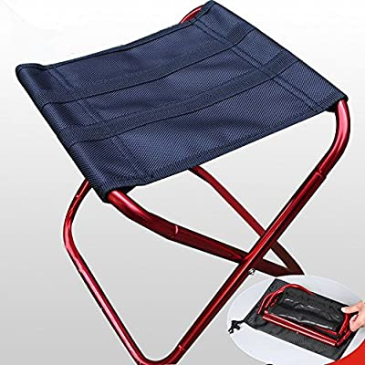 JMAHM Outdoor Folding Stool Camping Travel Stool Fishing Chair Garden Chairs for Fishing Camping Hiking Backpacking Seat (Red) by JMAHM