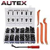 Autex 240 PCS Rivet Clips Plastique, Rivets Plastiques Fixation de Protection...