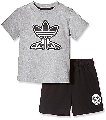 Adidas T-Shirt pour enfant/Short Set de soccer Shoe 5 ans Gris - Gris/noir