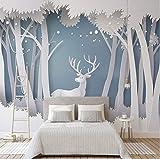 Benutzerdefinierte Fototapete 3D Solide Wald Moderne Einfache Elch Wandbild Tapete Wohnzimmer Tv Hintergrund Moderne Nahtlose Wandverkleidung