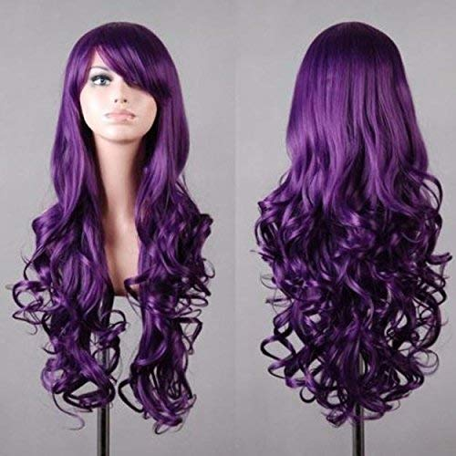 Coogel Wig,Party Summer Mother''s Day Easter April Fool''s Day 2019 Best Gift for Mom Women Lady Long Wavy Curly Hair Anime Cosplay Party Full Wig Wigs PP (R) -