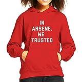 Coto7 In Arsene We Trusted Arsene Wenger Arsenal Kid's Hooded Sweatshirt
