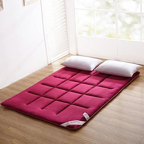 HAOLY Pinzette,Flanella Thick Tatami Materasso,Antisdrucciolo Durevole,Ispessita Pad Single Bed,1.2 1.5 1.8 0.9 Metri Morbido Tappetino-A 120x200cm(47x79inch)