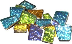 Mosaic Mercantile Glass Crafter's Cut Tiles .5lb-Assorted Sparkle