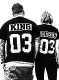 Comedy Shirts - King 03 - NEGATIV - Herren T-Shirt - Schwarz/Weiss Gr. M