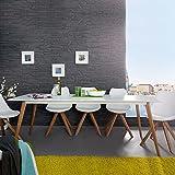 CAGÜ Design Retro Lounge ESSTISCH [Göteborg] Weiss-Eiche 200cm x 90cm im SKANDINAVISCHEN Stil, Neu!