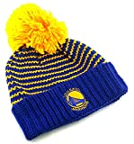adidas Golden State Warriors New Damen Beanie Pom Blau Gold Cuffed Era Hat Cap