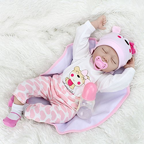 CHAREX Reborn Baby Dolls 22 Inch Lifelike Sleeping Baby Dolls Adorable Soft Body Toy Gifts For Ages 3+