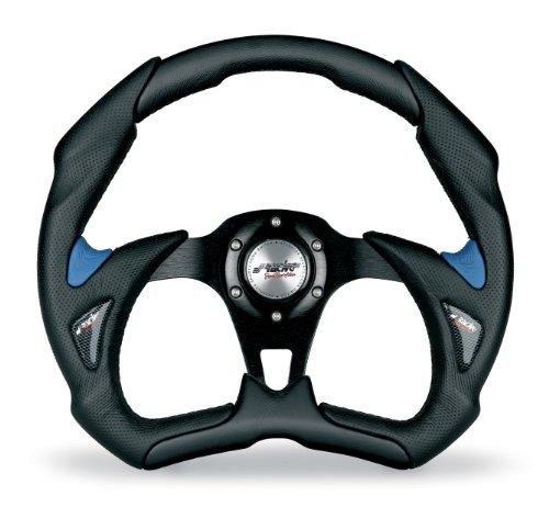 Simoni Racing X5350PUN/PA X5 Universal Lenkrad, Schwarz und Blau