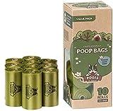 Pogi's Hundekotbeutel - 10 Rollen (150 Tüten) - große, biologisch abbaubare, parfümierte, tropfsichere Hundetüten