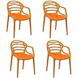 Cello Image Series Atria Set of 4 Chairs (Orange)