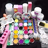 Ouneed® Powder Nail,21 in 1 Professionelle Acryl Glitzer Farbe Pulver Nail Art Deco Tipps Set
