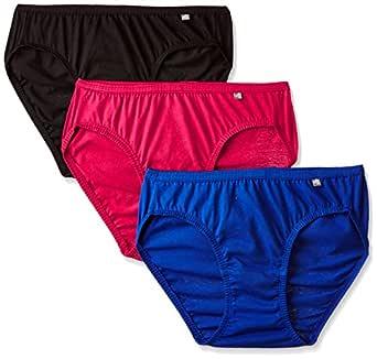 Jockey Women's Bikini (Pack of 3) (1410_Dark Assorted_S)