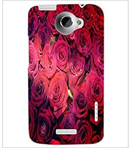 PrintDhaba Roses D-4852 Back Case Cover for HTC ONE X (Multi-Coloured)