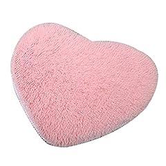 Idea Regalo - Bodhi2000®, tappeto antiscivolo a forma di cuore, morbido tappetino per la casa e il bagno, 30cm x 40cm