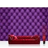 Fototapete 368x254 cm PREMIUM Wand Foto Tapete Wand Bild Papiertapete - Illustrationen Tapete Sofa Textur Illustration Leder lila - no. 1222