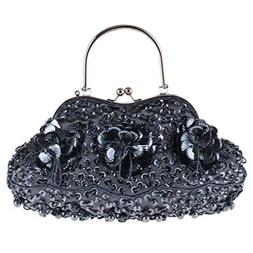 SSMK Evening Bag, Poschette giorno donna jet hematite