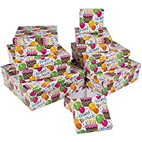 22.5 x 22.5 cm Out of the blue Geschenkkarton mit Flamingos Pappe Mehrfarbig 8-Einheiten