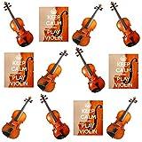 Keep Calm and Play Violon, Violon Mix?comestibles pour cupcakes col montant (Lot de 12)