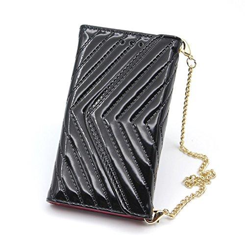 Abnehmbare 2 in 1 V-Form Magnetverschluss Ledertasche mit Brieftasche Funktionskartensteckplätze und Trageschlaufe für iPhone X ( Color : Black ) Black