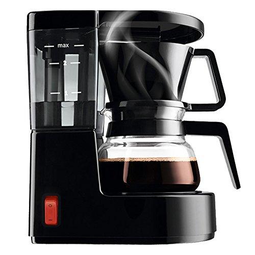 XIA& Kaffeemühle Kaffeekanne Glas Schwarz Weiß 350 ml 500 Watt Drip Espressomaschine Halbautomatische Kommerziellen ( Farbe : Schwarz )