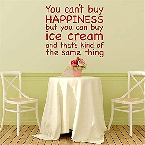 Wandtattoo Kinderzimmer Sie Können Nicht Glück Kaufen, Aber Sie Können Eiscreme Kaufen, Und Das Ist Irgendwie Dasselbe Für Wohnzimmerschlafzimmer