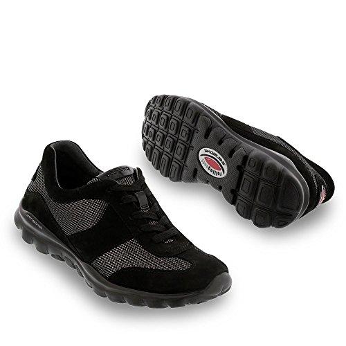 Gabor Rolling Soft Helen dicono le donne s ampia per scarpe, Sneaker, colore: nero Nero (nero)