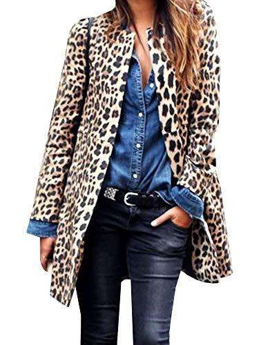 Gemijacka - Abrigo - para Mujer Leopardo Large