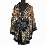 Elégant Kimono Peignoir Chemise de Nuit Léopard Taille Unique