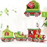 Wandkalender,Hunpta Weihnachten Zug Holz Weihnachten Zug Ornamente Anhänger Weihnachten (A)