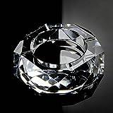 Rollsnownow Glas transparent modischer Aschenbecher Außendurchmesser 12 * 12 * 3 cm, Innendurchmesser 7,5 * 7,5 * 2,5 cm