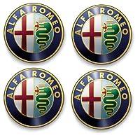4 x Alpha Romeo Logo Stickers - 5 x 5cm