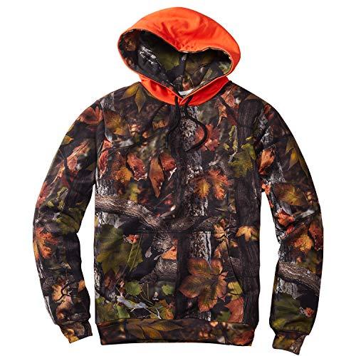 Lakeshore Jagd Hoodie, Camouflage Kapuzenpullover, wendbare Signal Warn Kapuze Real Tree/Orange, XL -