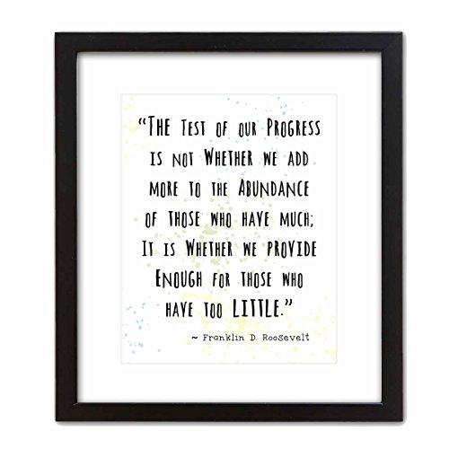 ArtDash? Art Wand dekotarion ~ Franklin D. Roosevelt berühmten Zitat:. bietet für Diejenigen, die Wenig 8